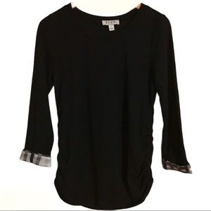 🔥Elle Long Sleeve Black Too With Side Ruching